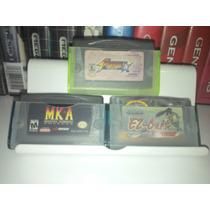 Kit Com 3 Cases Para Cartucho Gba Sp Jogos Game Boy Advance