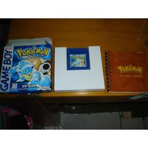 Nintendo Pokemon Azul Com Caixa Roda Gameboy Color Advance