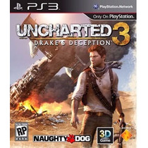 Ps3 Uncharted 3 Drakes Deception - Midia Fisica Portugues Br