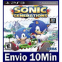 Sonic Generations Mídia Digital Ps3 Psn Playstation 3