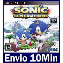 Sonic Generations Mídia Digital Ps3 Psn Playstation 3
