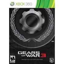 Gears Of War 3 Limited Edition, Xbox 360, Novo, Lacrado!