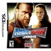 Jogo Nintendo Ds Wwe Smackdown Vs Raw 2009 Original Lacrado