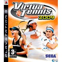 Virtua Tennis 2009 Ps3 Mídia Física | Com Garantia De Loja!