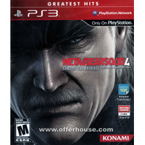 Jogo Metal Gear Solid 4 Ps3 Midia Fisica Greatest Hits Nf