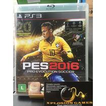 Jogo Pes 2016 Playstation 3, Português, Lacrado, Novo