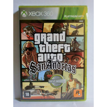 Grand Theft Auto - Gta San Andreas Xbox 360 - Lacrado Novo