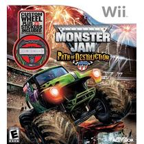 Monster Jam Path Of Destruction Bundle - Wii