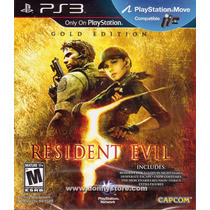 Jogo Ps3 Resident Evil 5 Gold Edition Original Lacrado