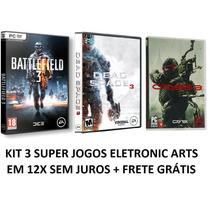 Jogos Battlefield 3 + Dead Space 3 + Crysis 3 - Pc Dvd Box