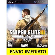Jogo Sniper Elite 3 Ps3 Legenda Em Português Promoção !!