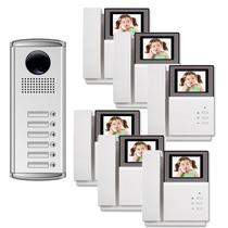 6 Em 6 Interfone Color Monitor Câmara