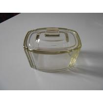 Antiga Manteigueira Em Vidro Art Noveau