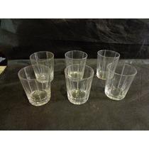 Jogo De 5 Copos Demi Cristal P/ Vodka / Aperitivo Pequeno