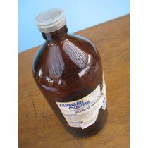 Frasco Antigo Vidro Farmanil Quima 1 Litro Âmbar Farmácia
