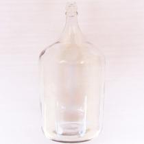 Garrafão Vidro Transparente Branco Decoração Objetos Antigos