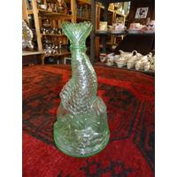 Licoreira De Vidro Verde Em Forma De Peixe - Garrafa