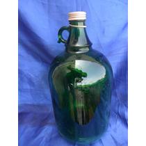 Garrafão Vidro 4 Litros (verde E Caramelo) (wf)