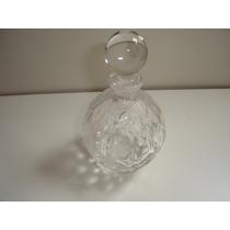 Antigo Lindissimo Perfumeiro Vidro Crystal Detalhado Tampa
