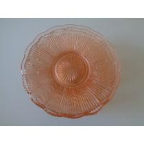 6 Lindos Antigos Pratimnhos P/ Bplo Em Vidro Rosê Moldado