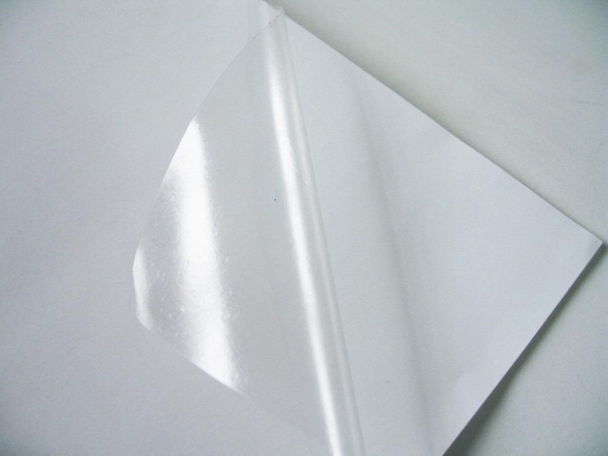 Vinil adesivo a4 transparente impressora jato de tinta r - Papel de regalo transparente ...