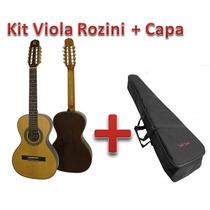 Kit Viola Rozini Presença Brasil Rv215ac E Capa Solid Sound