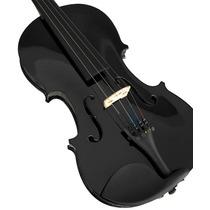 Violino Ronsani 4/4 Black Pearl Arco Crina Animal Com Estojo