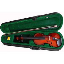 Violino Sverve Ronsani 4/4 Completo C/ Estojo Luxo Arco Breu