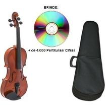 Violino 3/4 Giannini Iniciante + Arco+ Breu+ Estojo Promoção