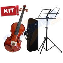 Kit Violino 4/4 Ve441 Eagle + Estante + Estojo Promoção Loja