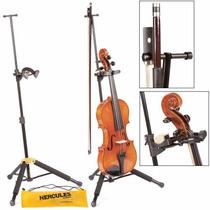 Suporte Travlite Alumínio P/ Violino Viola Hercules Ds571bb
