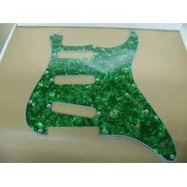 Escudo Guitarra Strato Perolado 3s Sss Verde Perolado