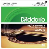 Encordoamento Daddario P/ Violão Aço 009 Ez890 B Bronze