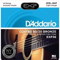 Promoção! D Addario Exp36 Encordoamento Violão 12 Cordas