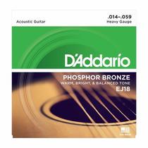 Cordas De Aço 014 Daddario Phosphor Bronze P/ Violão