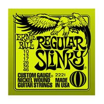 Encordoamento P/ Guitarra Aço Ernie Ball Regular .010 .046