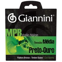 Encord. Giannini Mpb Violão Nylon Preto Ouro Média Genwbg