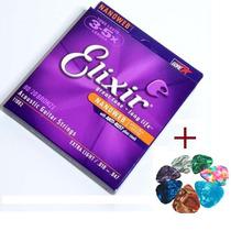 Corda / Encordoamento Violão Aço-elixir 010 + 5 Palhetas