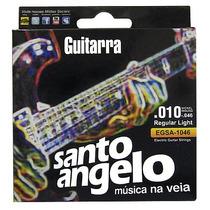 Cordas P/guitarra 0.010-.046 Regular Light Santo Angelo