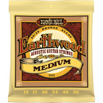 Cordas Ernie Ball Earthwood 013 Violão Medium Made Usa Em Sp