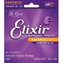 Encordoamento Violão Aço Elixir 0.10 Nanoweb - Original