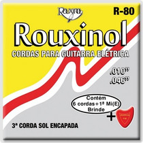 Cordas De Nylon Para Guitarra Elétrica Rouxinol R-80