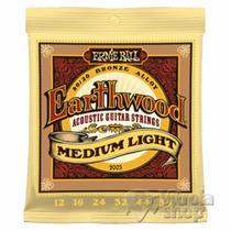 Cordas De Violão Aço Ernie Ball 0.12 Earthwood Medium Light