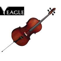 Violoncelo Eagle Ce300 : Cello 4/4 Tampo Maciço Envelhecido