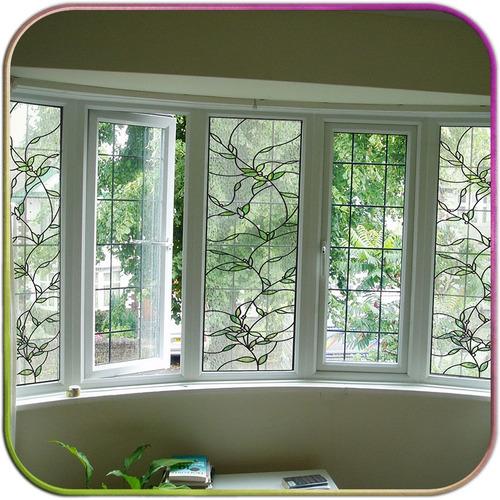Vitral adesivos para vidro porta janela quarto cozinha for Adesivos p porta de vidro