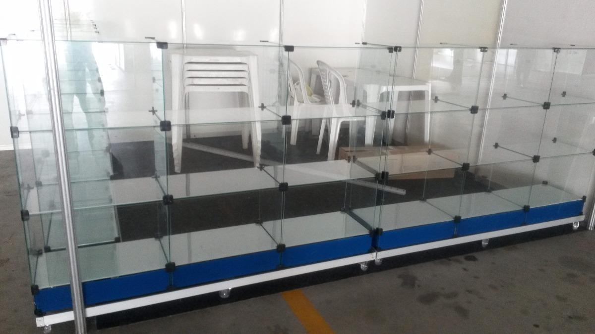 Armario Expositor De Vidro Com Chave : Vitrine balc?o de vidro desmont?vel expositor armario r