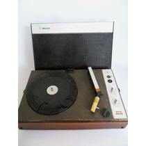 Vitrola Toca Discos Portátil Philips Antigo E Raro - Coleção