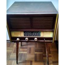 Radio Vitrola Antiga Madeira Colecionador - Anos 60