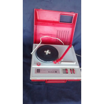 Vitrola Radiola Toca Disco Vermelha Belair Antiga