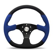 Volante Esportivo Preto Azul Flat 350mm Opala Fusca Gol